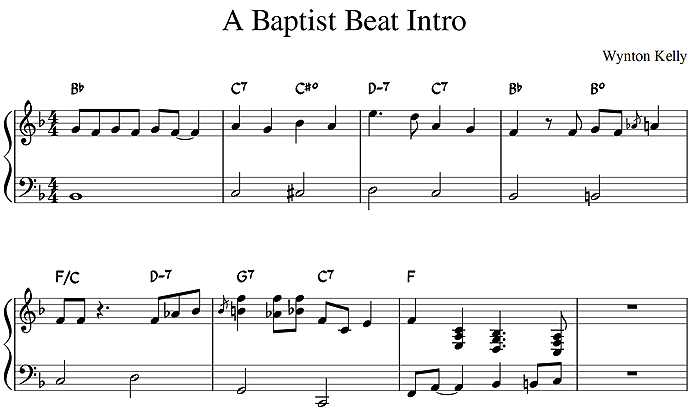 """A Baptist Beat""のイントロ"
